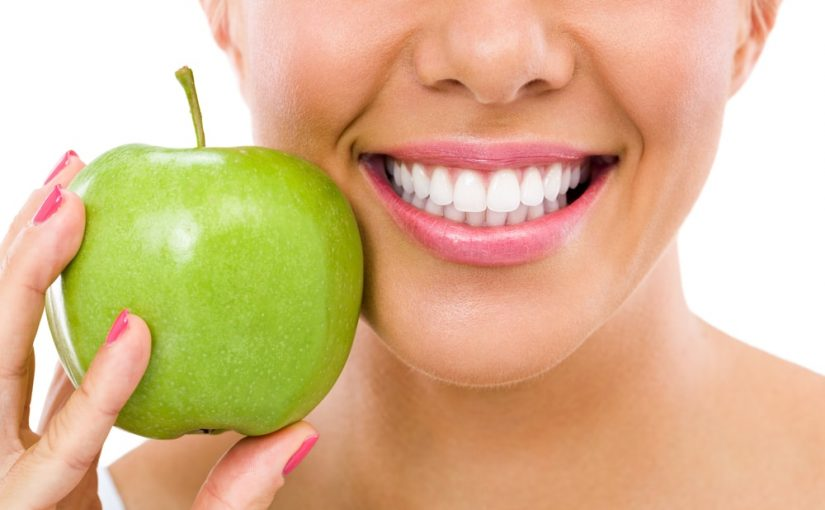 Picture of smile and an apple